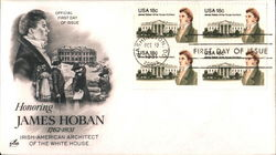 Honoring James Hoban 1762-1831 Irish-American Architect of the White House Block of Stamps