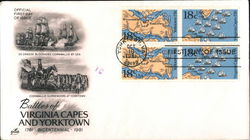 Battles of Virginia Capes and Yorktown Block of Stamps