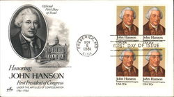 Honoring John Hanson - First President of Congress Under the Articles of Confederation 1781-1782 Block of Stamps