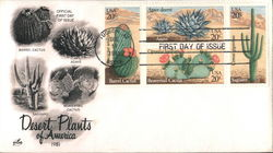 Desert Plants of America 1981 Block of Stamps