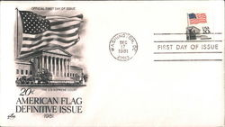 20c American Flag Definitive Issue 1981