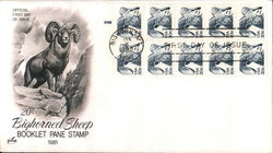 20¢ Bighorn Sheep Booklet Pane Stamp 1981 Block of Stamps