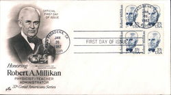 Honoring Robert A. Millikan - Physicist - Teacher - Administrator - 37¢ Great Americans Series Block of Stamps