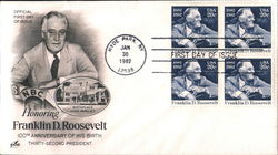 Honoring Franklin D. Roosevelt Block of Stamps