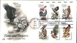 State Birds and Flowers Postage Stamps - 1982 Block of Stamps