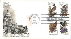 State Birds and Flowers Block of Stamps
