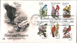 State Birds and Flowers - Postage Stamps 1982 Block of Stamps