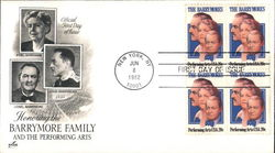 Honoring the Barrymore Family and the Performing Arts Block of Stamps