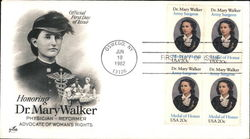 Honoring Dr. Mary Walker Physician Reformer Advocate of Woman's Rights Block of Stamps