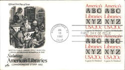 Saluting America's Libraries Block of Stamps