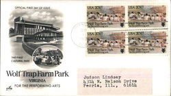 Wolf Trap Farm Park Virginia - For the Performing Arts Block of Stamps