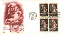 Christmas 1982 Block of Stamps