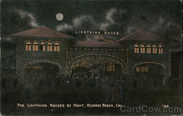 The Lightning Racers by Night Redondo Beach California