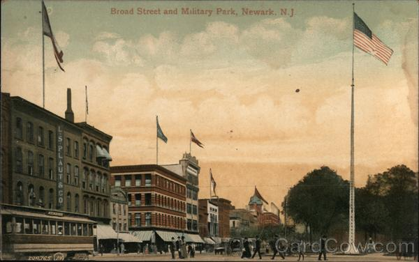 Broad Street and Military Park Newark New Jersey