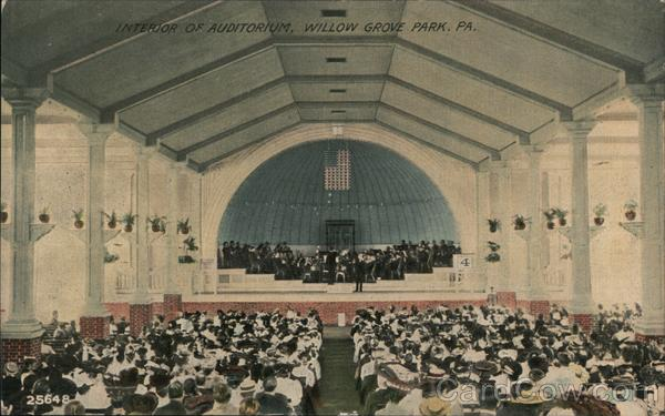 Interior of Auditorium, Willow Grove Park Pennsylvania