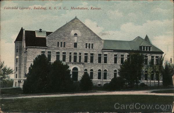 Fairchild Library, Building, K.S.A.C. Manhattan Kansas