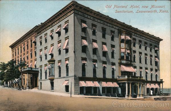 Old Planters' Hotel, now Missouri Sanitorium Leavenworth Kansas