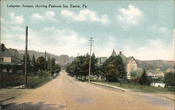 Lafayette Avenue Showing Paxinosa Inn Easton Pennsylvania
