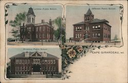 Lorimier, Broadway and Jefferson Public Schools Postcard