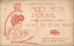 I Wish You Would Meet Me in Jackson Postcard
