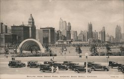 Skyline from Grant Park Showing Band Shell Postcard