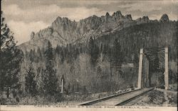 Castle Crags and S.P. Bridge