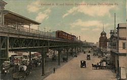Elevated R.R. and Station, Delaware Avenue