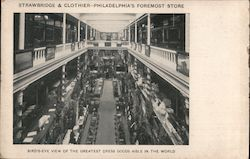 Strawbridge & Clothier, Bird's Eye View of the Greatest Dress Goods Aisle in the World