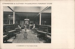 Strawbridge & Clothier, A Corridor in the Piano Store