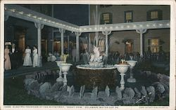 Electric Fountain at the Kittatinny, Night View
