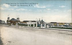Scene Showing the Ostend Hotel and Bathing Pavilion