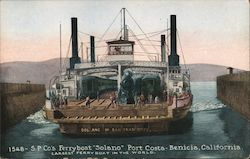 "S.P. Co's Ferryboat ""Solano"" at Port Costa"