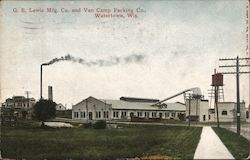 G. B. Lewis Mfg. Co. and Van Camp Packing Co. Postcard
