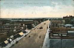 Kansas Avenue, South From Roof Garden Postcard