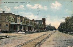 West 8th Street Scene Postcard