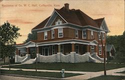 Residence of Dr. W.C. Hall Postcard