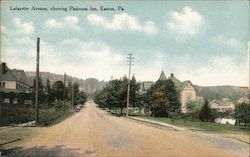 Lafayette Avenue Showing Paxinosa Inn