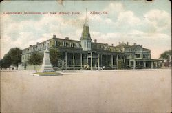 Confederate Monument and New Albany Hotel