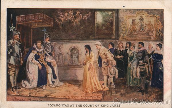 Pocahontas at the Court of King James. Native Americana