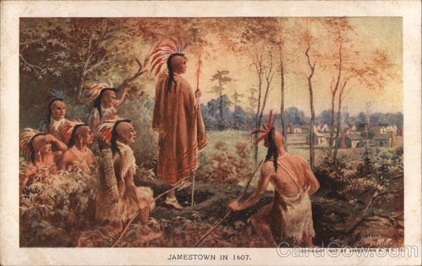 Jamestown in 1607 Native Americana