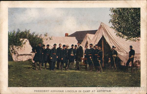 President Abraham Lincoln in Camp at Antietam 1907 Jamestown Exposition