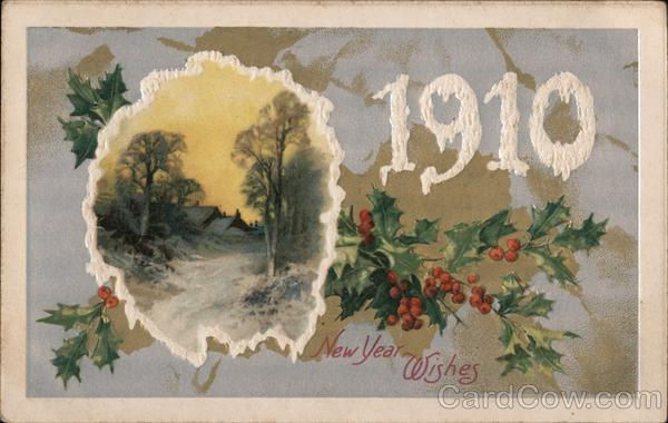 1910 New Years Wishes Year Dates