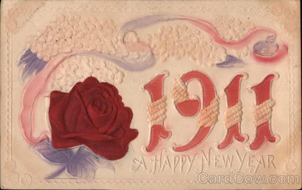 1911, a Happy New Year Large Letter Dates