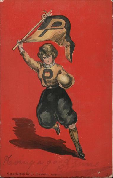 Princeton Woman Carrying a Flag and a Ball J. Bergman