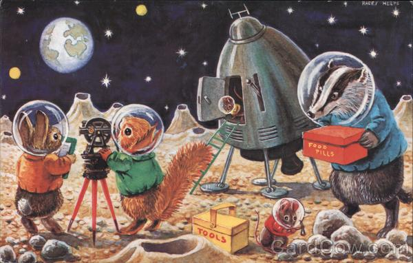 Landing on the Moon by Racey Helps Artist Signed