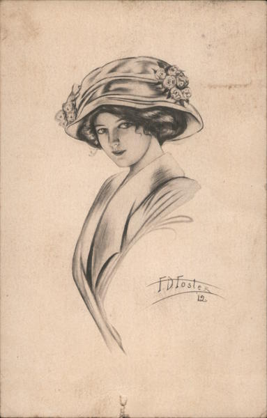 Illustration of a woman, FD Foster Women