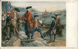 Embarking at the head of Lake George of Abercrombie's expedition against Fort Ticonderoga
