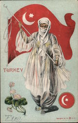 Turkey - Woman with Flag