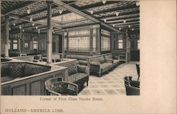 Corner of First Class Smoke Room, Holland-America Line
