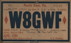W8GWF, North East, Pennsylvania